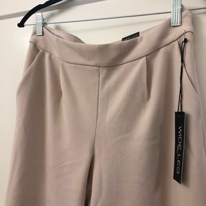 Pale Pink EXPRESS Wide Leg Pants - tags still on!